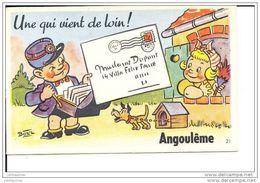ANGOULEME CARTE A SYSTEME BOZZ ILLUSTRATEUR PETIT FACTEUR UNE QUI VIENT DE LOIN - Angouleme