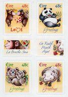 Ireland - 2004 - Greetings - Animal Cubs - Mint Self-adhesive Booklet Stamp Set - 1949-... Repubblica D'Irlanda