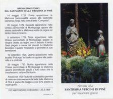Pinè (Trento) - Santino Depliant SANTISSIMA VERGINE - OTTIMO N92 - Religione & Esoterismo