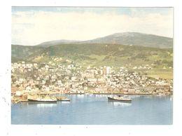 CPA Norvège Norway Norvegen HARSTAD Utsik Mot Byen Og Havna Hurtigtutene Anløper Town Boats Ville Bateaux - Norwegen