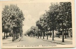 DEP 92 NEUILLY SUR SEINE BOULEVARD D'ARGENSON - Neuilly Sur Seine