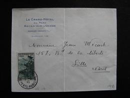 S/L 151 - TB Enveloppe Affranchie Avec N° 474 ;  De Royan  Pour Lille ( 07/06/1943) - Marcophilie (Lettres)