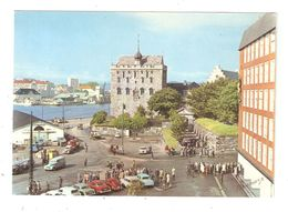 CPA Norvège Norway Norvegen BERGEN Bergenhus Rosenkrantztårnet Eksteriør Fra 1563 Under Restauring Cars Voitures 1960 - Norwegen