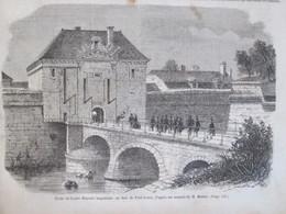 2 Gravure  1858  FORT DE PORT-LOUIS, PRES DE LORIENT - Port Louis