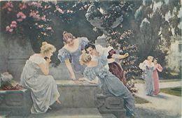 Themes Div - Ref W97- Illustrateurs - Illustrateur -femmes - Jeux - Cartes A Jouer -arts -tableau -peinture -peintre  - - Non Classés