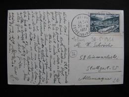 S/L 152 - TB C.P. Affranchie Avec N° 842A ;  De Melun  Pour L'Allemagne ( 30/08/1951) - Marcophilie (Lettres)