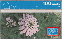 Gibraltar  Phonecard- 100u Candytuft - Fine Used - Gibraltar