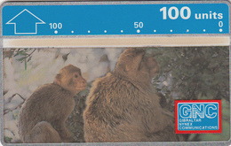 Gibraltar  Phonecard - 100u Barbary Ape - Fine Used - Gibraltar