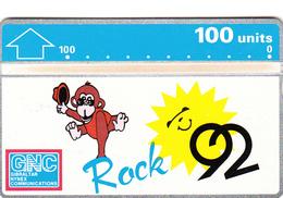 Gibraltar Phonecard - 100u 1992 Rock - Fine Used - Gibraltar