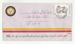 PAKISTAN Air Mail COVER CHICKEN Pic ADVERT Stamps BANDAYUNI  Bird Birds - Pakistan