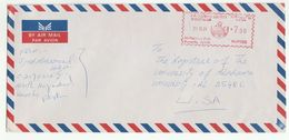 1991 Air Mail PAKISTAN COVER METER Stamps To USA - Pakistan