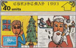 Gibraltar  Phonecard- 40u Christmas - Fine Used - Gibraltar