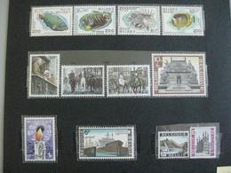 Timbres Belgique : 1968 Poissons, Victoire 1918 Cob N° 1470 à 1481 **  & - Belgium