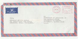 1992 Air Mail BANGLADESH COVER METER Stamps To USA - Bangladesh