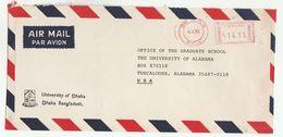 1991 Air Mail BANGLADESH UNIVERSITY OF DHAKA COVER METER Stamps To USA - Bangladesh