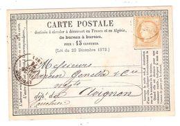 Carte Précurseur LYON S CERES N° 55, Berthoud & Cie ,25 Février 1876 Texte Cie Générale De Navigation Du Rhône > Avignon - 1849-1876: Période Classique