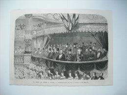 GRAVURE 1873. LE SHAH DE PERSE A PARIS. REPRESENTATION DE GALA A L'OPERA. - Estampes & Gravures