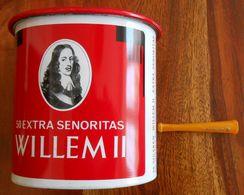Boite Metallique Vide 50 Cigares Willem II Senoritas Années 50 - Boites à Tabac Vides