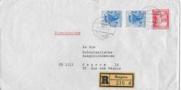 1966 R-Brief Bregenz Nach Genf - 1945-.... 2ème République
