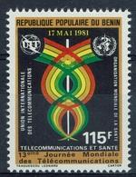 Benin, Telecommunications And Health, 1981, MNH VF - Benin - Dahomey (1960-...)