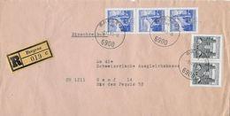 1966 R-Brief Bregenz Nach Genf An Die Schweizerische Ausgleichskasse - 1945-.... 2ème République