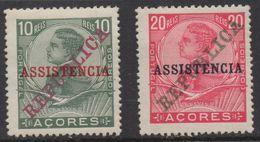 R303 - AZORES- 1911 - SC#: RA1,RA2- ASSISTENCIA - . MH - SCV: US$ 6.00 - Azoren