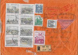 1969 VALOREN-BRIEF → R-Brief Mit 1'560 Schilling Von Wien Nach Genf - 1945-.... 2ème République