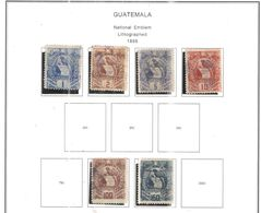 Guatemala PO 1886 Nat.Emblema   Scott.31/34+39+40+used + See Scans On Scott.Pages - Guatemala