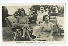 Postcard Royal Family Rp Her Magest The Queen With The Royal Princesses   Unused Photochrom - Familles Royales
