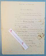 L.A.S André BAILLON écrivain Belge (Anvers) Marly Le Roi - Histoire D'une Marie - Léon TREICH Lettre Autographe Belgique - Autographs