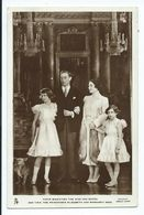 Postcard Royal Family Rp The King And Queen And Princesses Elizabeth And Magaret.tuck's - Case Reali