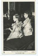 Postcard Royal Family Rp T.r.h. Princess Elizabeth And Princess Margaret. .tuck's - Case Reali