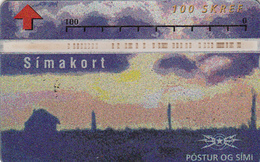 Iceland Optical Card 100u - Superb Used - Iceland