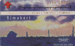 Iceland  Phonecard  Optical Card 100u - Superb Used - Iceland