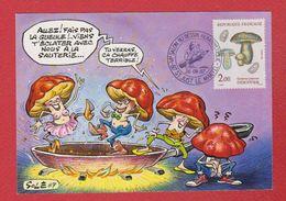 Carte Premier Jour / VI ème Salon Du Dessin Humoristique / Saint Just Le Martel / 26-09-87 - Maximum Cards