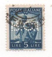 1945 - 1948 (555) Democratica L. 5 PERFIN - Leggi Il Messaggio Del Venditore - 6. 1946-.. República