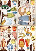 Decoupis Lot De 6 - Les Costumes Régionaux Francais - Savoie, Alsace, Normandie, Béarn, Picardie, Lorraine - Découpis