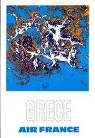 Air France GRèce - Reproduction De L'affiche De Raymond Pagès, 1971 - 1946-....: Ere Moderne
