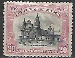 GUATEMALA    -   1902 .  Y&T N° 125 Oblitéré.   Cathédrale - Guatemala