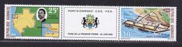 GABON AERIENS N°   78A ** MNH Neufs Sans Charnière, Bande Pliée, TB (D5237) Port D'Owendo - Gabon (1960-...)