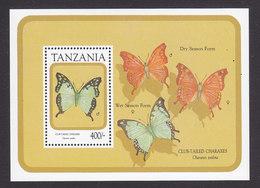 Tanzania, Scott #736, Mint Never Hinged, Butterlfy, Issued 1991 - Tanzania (1964-...)