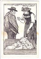 PAYSAN BERNOIS - ILLUSTRATION - COCHONS - CARTE OFFICIEL LANDES-AUSSTELUNG BERN 1914 - BE Berne