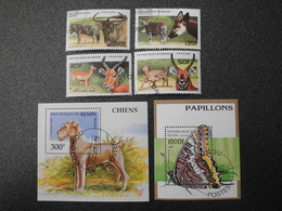 Stamps Of The World: Benin Dahomey (1: Dog - Butterfly - ...) - Bénin – Dahomey (1960-...)