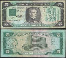 Liberia P 19 - 5 Dollars 12.04.1989 - Fine+ - Liberia