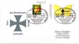 """(BWH2) BRD Sonderumschlag Bundeswehr """"Bundeswehr Heer-Marine-Luftwaffe"""" SSt 1.7.2006 REGENSBURG - Cartas"""