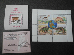 Stamps Of The World: Cambodia Cambodge (2 - Dino Transportation Ship Carriage) - Cambodge