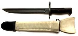 C 60 W - Baïonnette 1905 M1 US De CEREMONIE Avec Couvre Fourreau En Web Blanc. - Armes Blanches