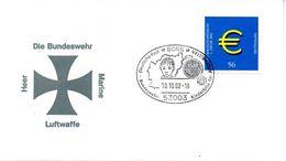 """(BWH2) BRD Sonderumschlag Bundeswehr """"Bundeswehr Heer-Marine-Luftwaffe"""" SSt 10.10.2002 BONN - Cartas"""