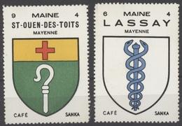 Café Sanka Maine St.ouen Des Toits Lassey Mayenne Sans Gomme Les Deux - Autres