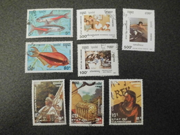 Stamps Of The World: Cambodia Cambodge (6 - Olympic Games + History + Fish Etc. ) - Cambodge